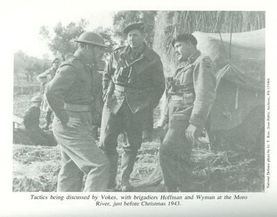 Maj. Vokes, Brig. Hoffman, Brig. Wyman (1943)