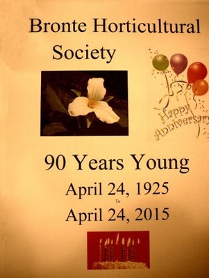 Bronte Horticultural Society, 90 Years Young