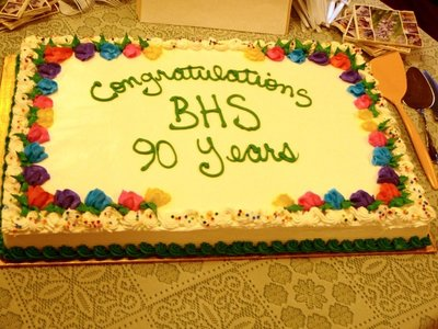 Bronte Horticultural Society 90 Years cake