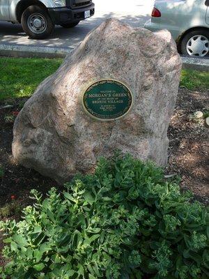 Morgan's Green boulder in memory of Bill Morgan