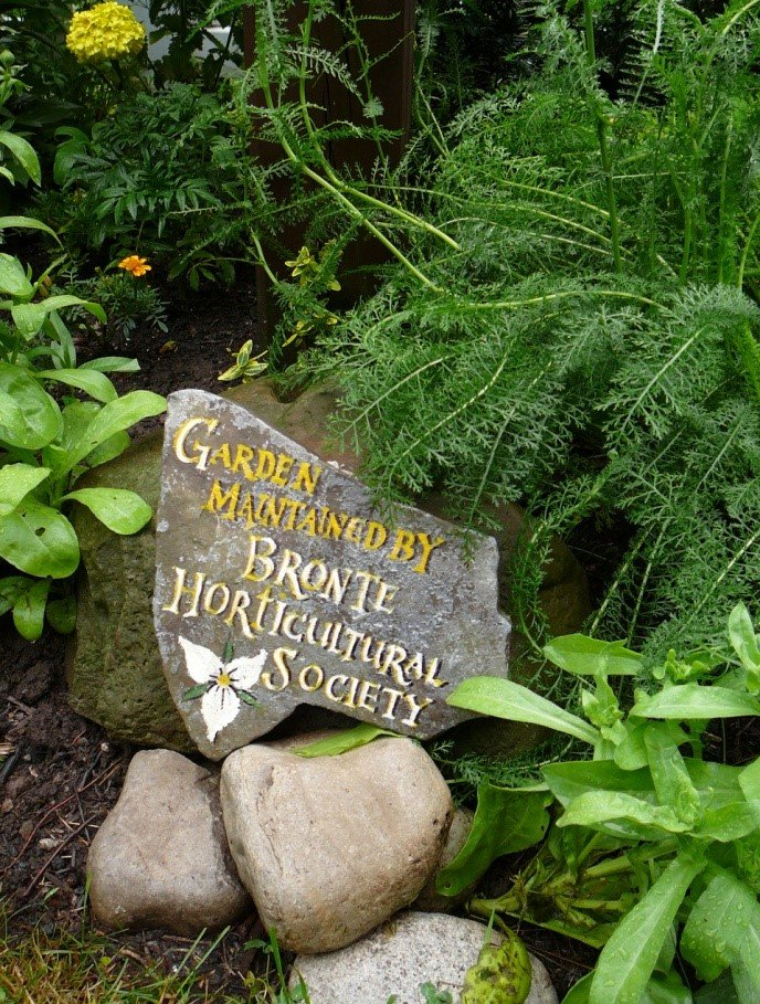Bronte Horticultural Society marker at Sovereign House