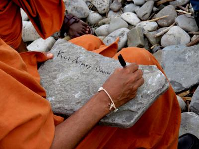 Visiting Monks From India