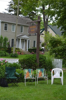 Bronte Horticultural society lawn chairs at Sovereign House