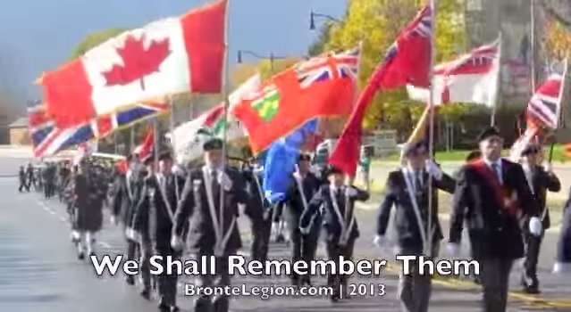 "<font size=""2"">Bronte Legion Remembrance Day Parade 2013 (used with permission from the Bronte BIA)