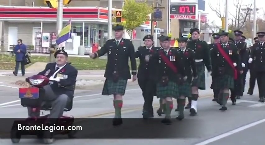 "<font size=""2"">Bronte Legion Remembrance Day Parade 2010 (used with permission from the Bronte BIA)