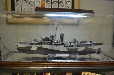 H.M.C.S. Oakville model at the Bronte Legion