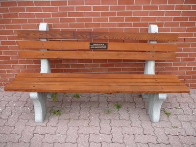 Memorial Bench at Lakeshore and Bronte Roads, 1998