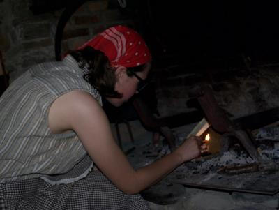Lighting the fire in 1850