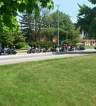 Bikes out on Lakeshore