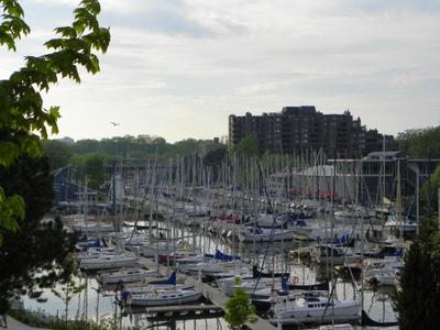 The View Looking North from Oakville Harbour