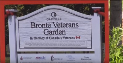 Bronte Veterans Garden Ceremony 2015