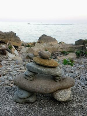 Rock Inukshuk at Tannery Park