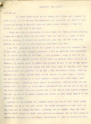 Allan Davidson Letter, May 11, 1918