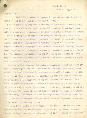 Allan Davidson Letter, May 6, 1918