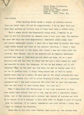Allan Davidson Letter, October 23, 1918