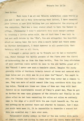 Allan Davidson Letter, December 12, 1918