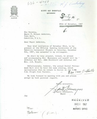 Letter from Sarto Desnoyers to McLean Anderson