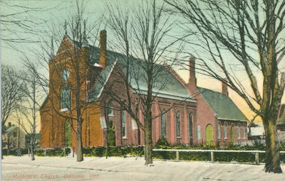 Oakville Methodist Church Postcard