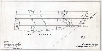 A map of the land purchased from the Mississaugas in 1806