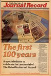 The first 100 years: a special edition to celebrate the centennial of The Oakville Journal Record