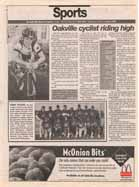 Oakville cyclist riding high