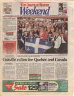 Oakville rallies for Quebec and Canada