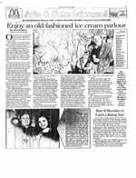 Enjoy an old-fashioned ice cream parlour