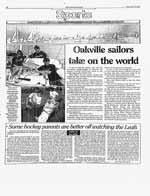 Oakville sailors take on the world
