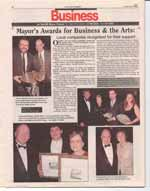 Mayor's Awards for Business & the Arts : Local companies recognized for their support