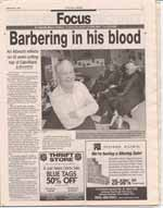 Barbering in his blood : Art Albrecht reflects on 42 years cutting hair of Oakvillians