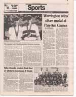 Warrington wins silver medal at Pan-Am Games
