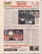 Bursaries to school bound volunteers
