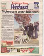 Motorcycle crash kills teen : Iroquois Ridge High School mourns loss of student