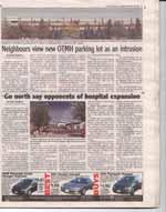 Neighbours view new OTMH parking lot as an intrusion