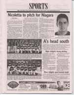 Nicoletta to pitch for Niagara