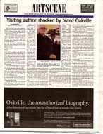 Visiting Author shocked by bland Oakville