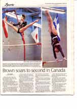 Brown soars to second in Canada