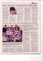 Toronto Rock star visits tyke Rocks in Oakville
