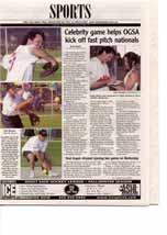 Celebrity game helps OGSA kick off fast pitch nationals