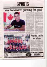 Van Koeverden: gunning for gold