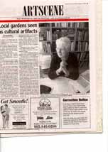 Local gardens seen as cultural artifacts