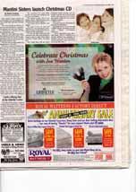 Mantini Sisters launch Christmas CD