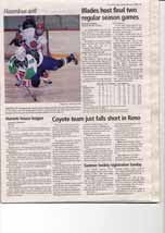 Coyote team just falls short in Reno