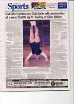 Oakville Gymnastics Club kicks off construction of a new 25,000 sq. ft. facility at Glen Abbey