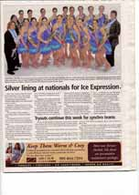 Silver lining at nationals for Ice Expression