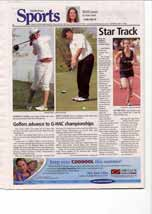 Golfers advance to G-HAC championships