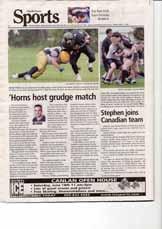 'Horns host grudge match: Head first