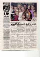 Miss McGoldrick is the best: How does it look?