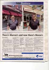 There's Murron's and now there's Moron's: It's Murron's and Moron's