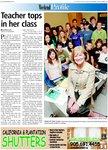 Teacher tops in her class